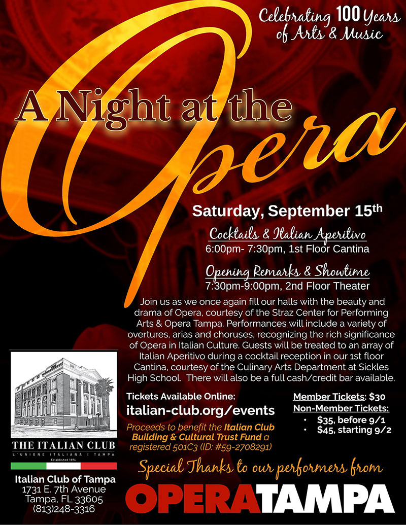 Night At The Opera Flyer