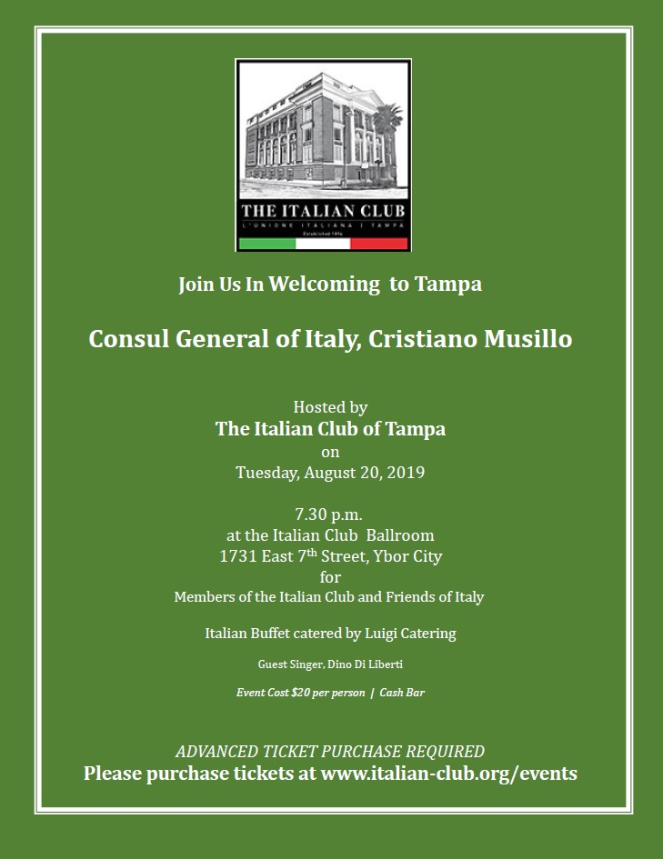 Consul General of Italy Event